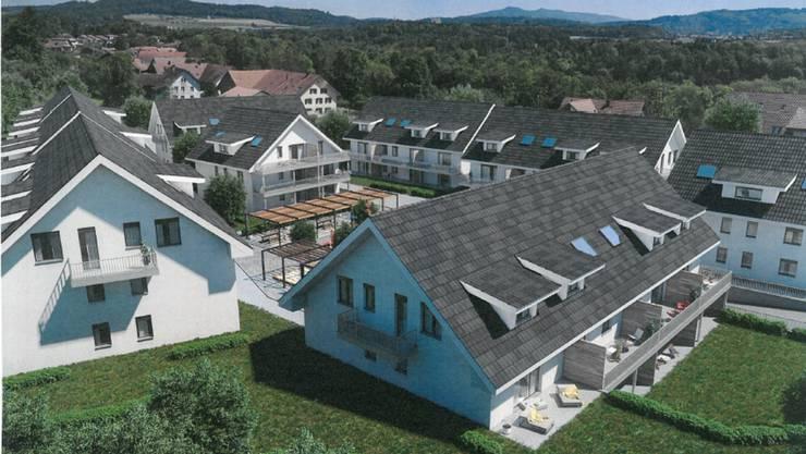 Geplant ist der Neubau von neun Mehrfamilienhäusern.