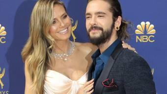 Zu langweilig für Kinder: Model Heidi Klum ist ohne ihren Nachwuchs, dafür mit Freund Tom Kaulitz zu den diesjährigen Emmys gereist.
