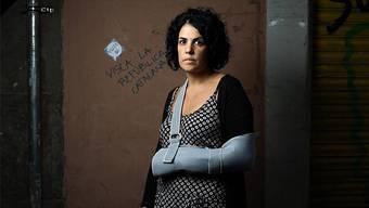 Shitstorm, weil die Finger nicht gebrochen waren: Marta Torrecillas am 2. Oktober 2017.Samuel Sanchez/EL PAÍS