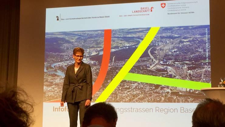 Sabine Pegoraro an der Medienkonferenz am Dienstag.