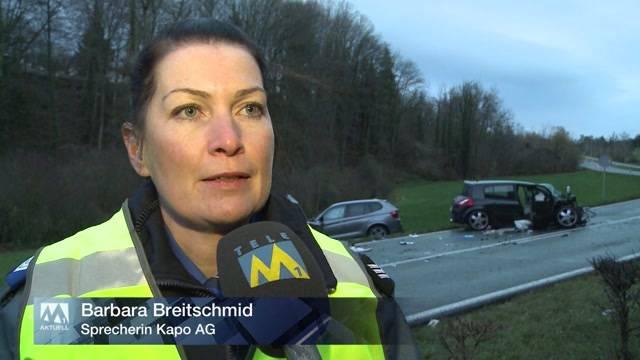 Schwere Frontalkollision in Villmergen