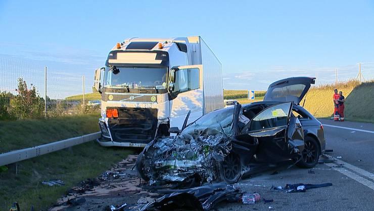 Nach dem Unfall war die A4 für drei Stunden gesperrt.