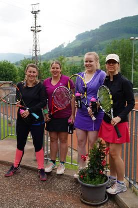 Mannschaftsbild mit Lisanne Schmid (von links), Melanie Friedli, Shannon Müller und Friederike Tinkl.