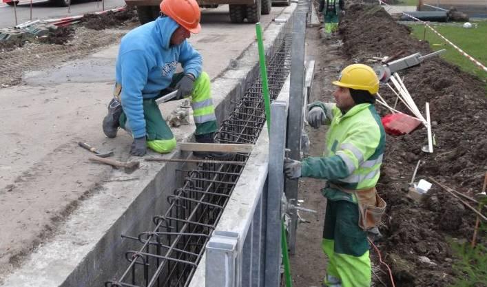 Die Spezialisten der Ernst Frey AG auf der Baustelle