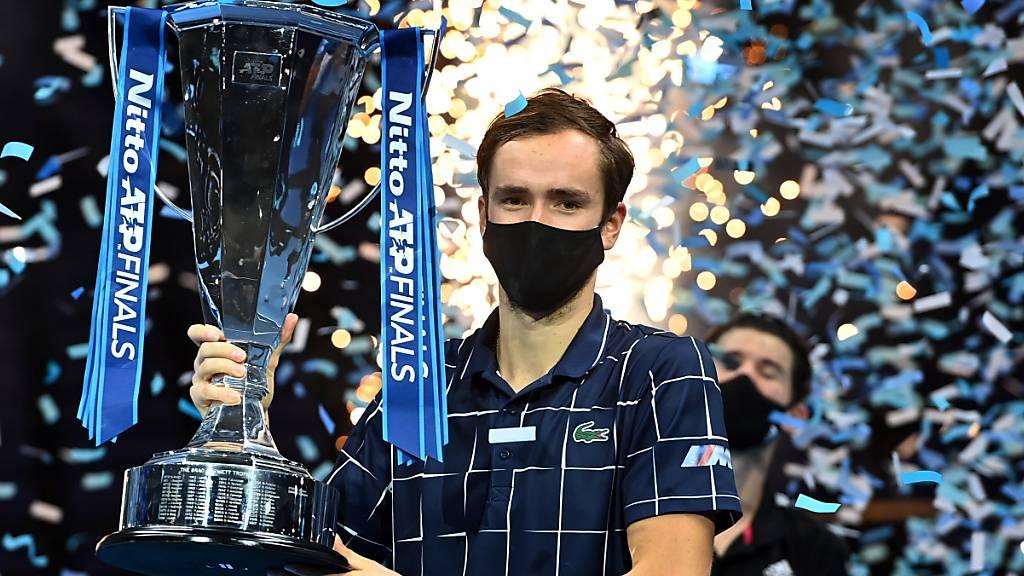 Daniil Medwedew wird auch dank seinem Sieg an den ATP-Finals Ende letzten Jahres in London die Nummer 2 der Weltrangliste
