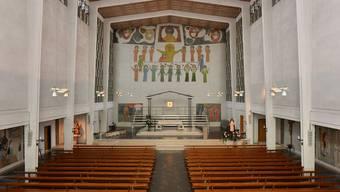 Ein Blick in die Marienkirche (gebaut 1952), die heute zu den Baudenkmälern von nationaler Bedeutung gehört
