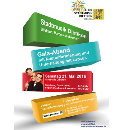 Gala-Abend der Stadtmusik Dietikon am 21. Mai 2016