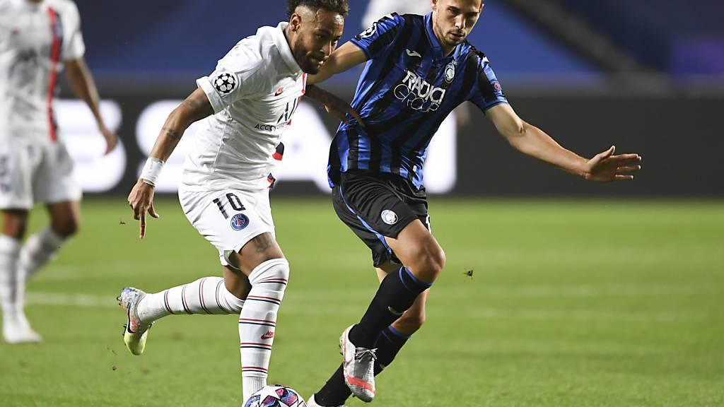 Remo Freuler im Zweikampf mit PSG-Neymar im Champions-League-Viertelfinal im August