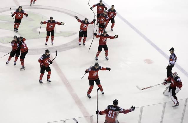 Kanada gelingt in der Verlängerung der Siegtreffer.