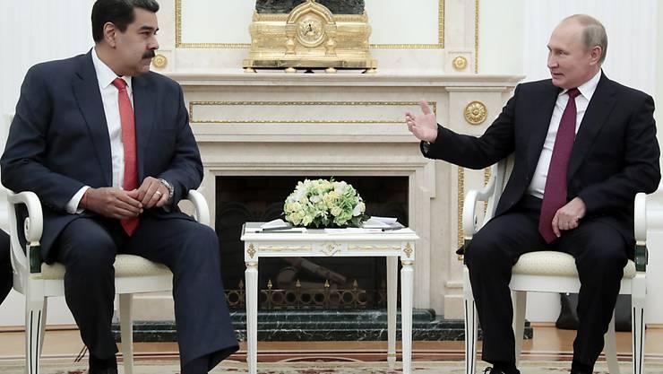 Der russische Präsident Wladimir Putin empfängt den venezolanischen Präsidenten Nicolás Maduro zu Gesprächen in Moskau.