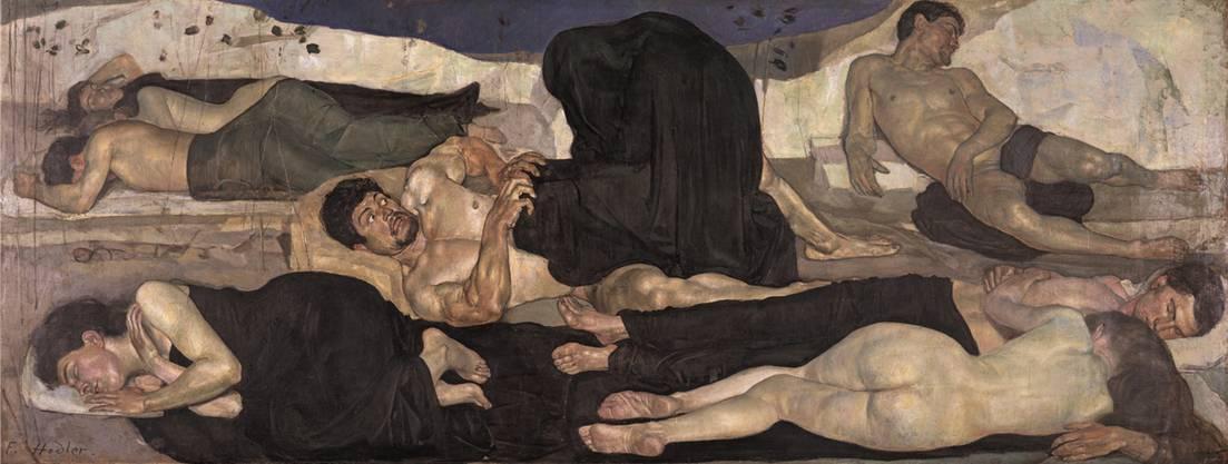 «Die Nacht» (1889/90) brachte Hodler Ablehnung und den internationalen Durchbruch. Pikant: Er verewigt darin seine Frau Bertha Stucki, seine Geliebte Augustine Dupin und sich selber.