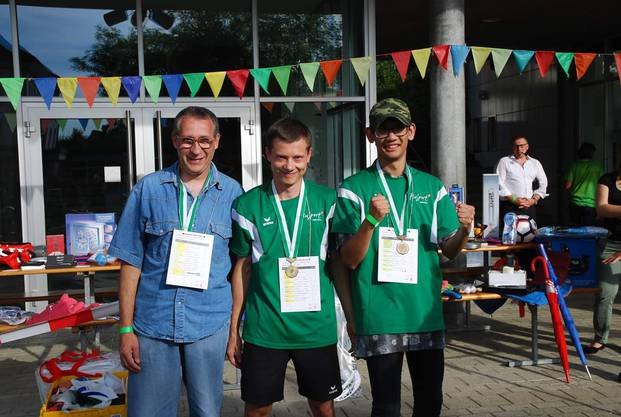 Siegerehrung: der erste und dritte Platz ging an PluSport Region Olten