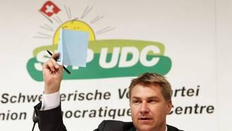 SVP-Präsident Toni Brunner in Seedorf