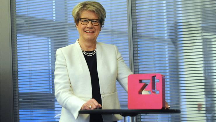Corina Eichenberger kurz vor Weihnachten im ZT-Medienhaus. Die Nationalrätin ist VR-Präsidentin der ZT Medien AG.