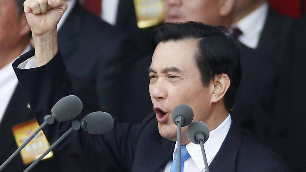 Taiwans Präsident Ma Ying Jeou reist nach Singapur, um Chinas Präsidenten Xi Jinping zu treffen. (Archivbild)