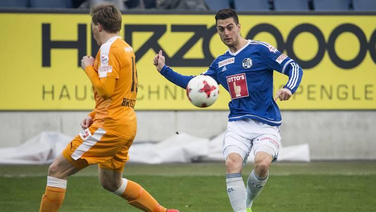 In der 23. Runde der Super League trafen Luzern und GC aufeinander.