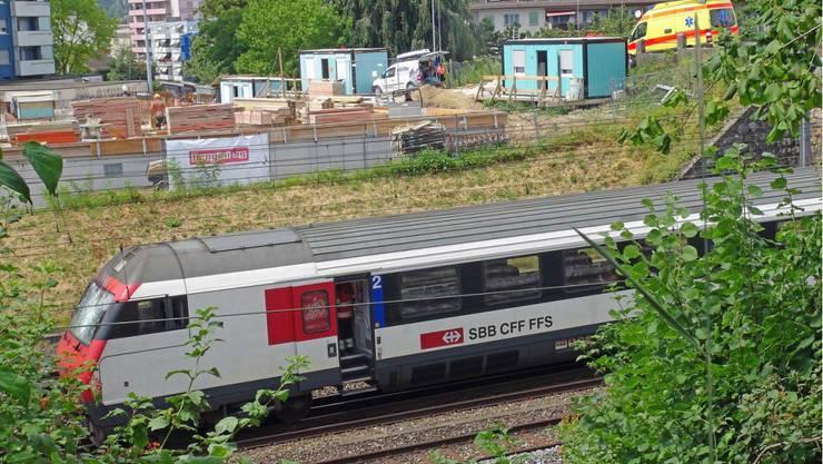 Der betroffene Regionalzug, in dem sich die Explosion ereignete