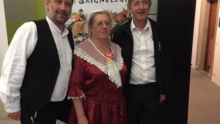 vlnr: Johannes Schmid-Kunz, Projektleiter; Monica Péter-Contesse, Geschäftsleitung STV; Gérard Queloz, OK-Präsident (Bild: zVg)
