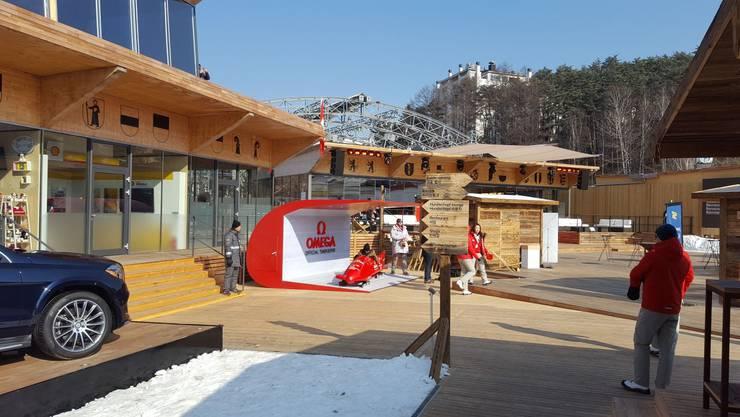 Das House of Switzerland. Unser Sportchef ist vor Ort und schickt uns Olympia Eindrücke.