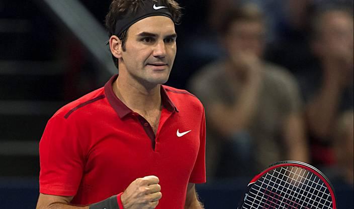 Roger Federer holt sich den ersten Satz mit 7:6 - er gewinnt den Tie-Break mit 10:8.
