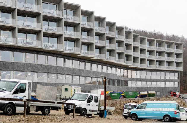 Rund um das neue Haus A laufen noch Bauarbeiten.
