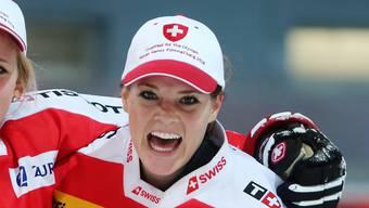 Stellt (fast) alle anderen in den Schatten: Goalie Florence Schelling.