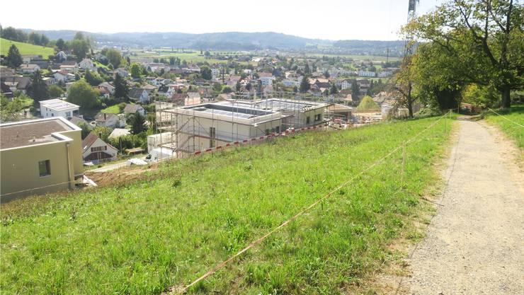 Der Müheler Ortsbürgerweg führt heute oberhalb der Gibel-Bebauungen durch.
