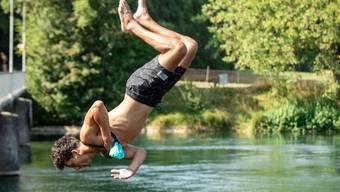 Aareschwimmer in Erlinsbach. (Symbolbild)