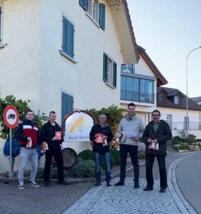von links: Rainer Kunz, Markus Liebi, Roland Härri, Christoph Riner, Alex Reimann