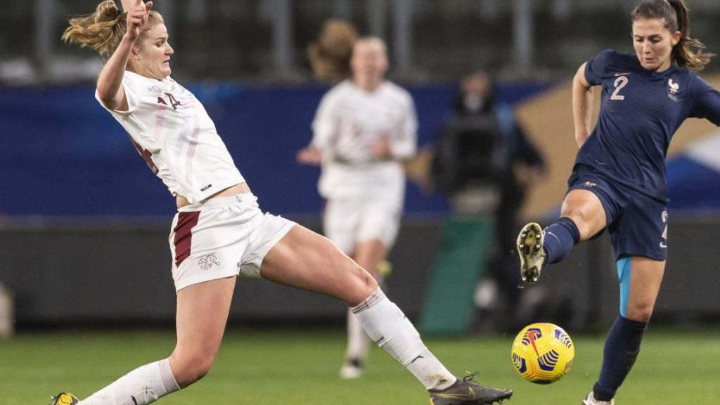 Rahel Kiwic feierte nach knapp 17 Monaten und einer Kreuzband- und Knorpelverletzung im rechten Knie ihr Comeback in der Nationalmannschaft