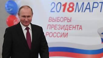 Wladimir Putin ist für eine vierte Amtszeit als russischer Präsident wiedergewählt worden.