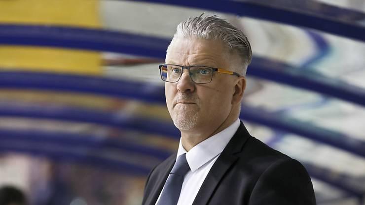 Trainer Per Hanberg befindet sich mit Kloten im Hoch