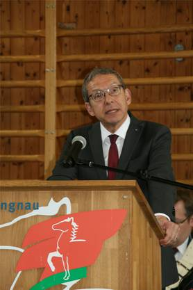 Landammann Urs Hofmann war in Lengnau ebenfalls zu Gast.