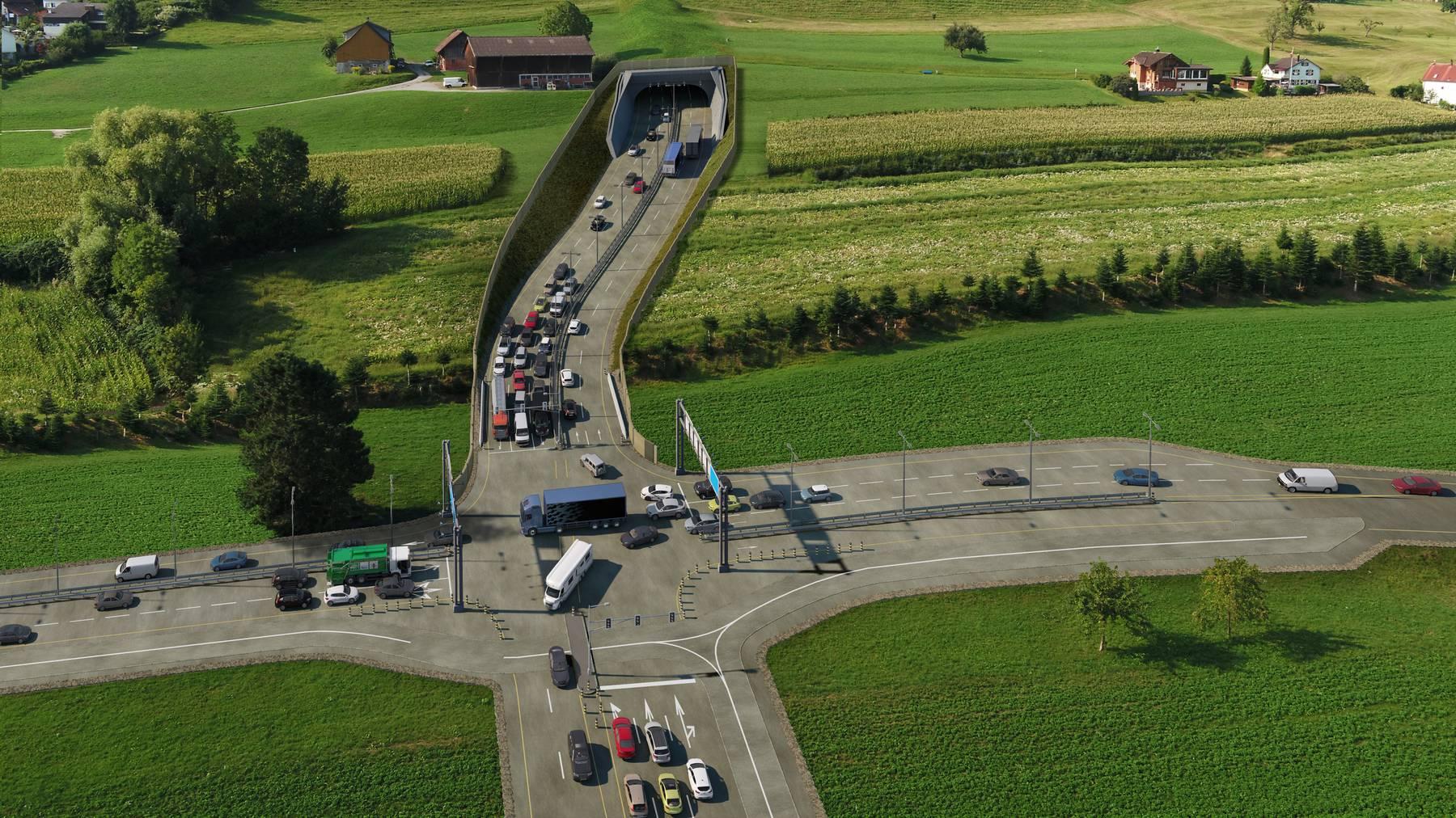 Autobahn Visualisierung