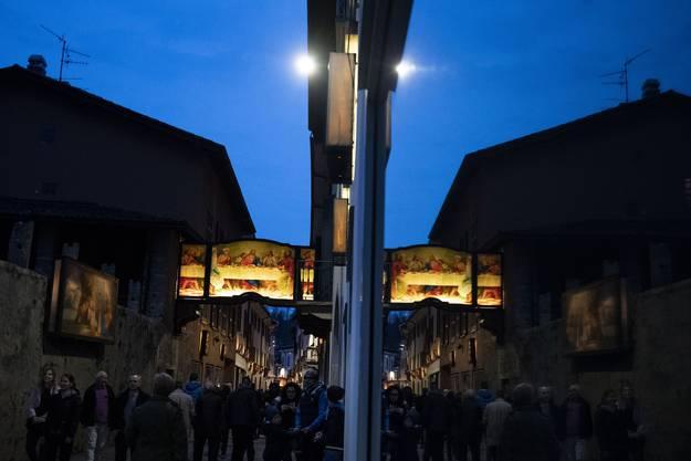 Historische Osterprozession am Gründonnerstag in Mendrisio.