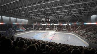 Widerstand von links: Visualisierung der geplanten ZSC-Arena mit 11600 Plätzen.