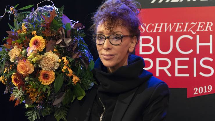 Sibylle Berg bei der Verleihung des Schweizer Buchpreises letzten November.