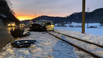 Der Unfall führte zu einem rund 3-stündigen Betriebsunterbruch der Waldenburgerbahn.