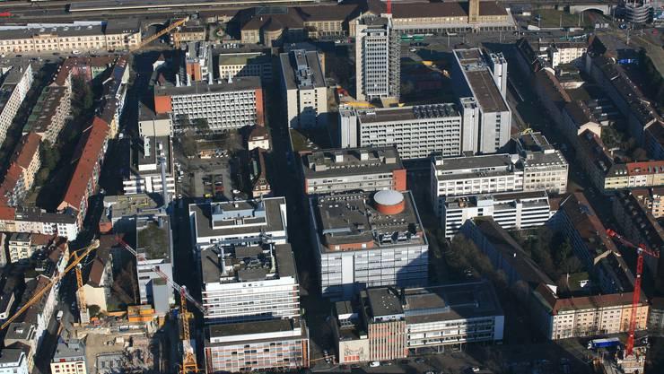 Ein abgeschlossenes Industriequartier mitten in der Stadt.