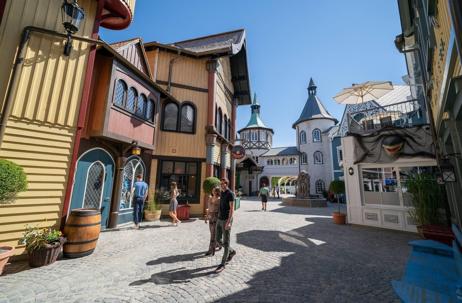 Der wieder aufgebaute Teil Skandinavien des Europa-Parks in Rust.