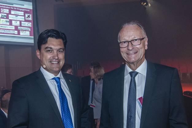 Christoph Buser Direktor und Andreas Scheider Präsident der Wirtschaftskammer