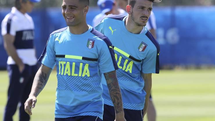 Nach dem erfreulichen Kurzabstecher nach Rom wieder im italienischen Team:  Alessandro Florenzi (rechts)