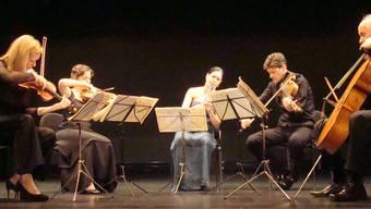 «Klassiksterne» in Rheinfelden (v.l.): Isabelle van Keulen, Ulrike Anima Mathé, Sharon Kam, Volker Jacobsen, Gustav Rivinius. ari
