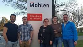 Vorstand SP Wohlen AG (von links nach rechts): Mergim Gutaj (Finanzen), Cyrill Meier (Parteipräsident), Simone Allenspach (Aktuarin), Alex Stirnemann (Fraktionspräsident) und Milenko Vukajlovic (Generalsekretär).