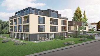 Auf dem Areal des ehemaligen Pfarrhauses an der Bergstrasse entstehen 26 Wohnungen.