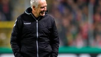 Freiburgs Trainer Christian Streich war nach dem Bodycheck von David Abraham nicht nachtragend
