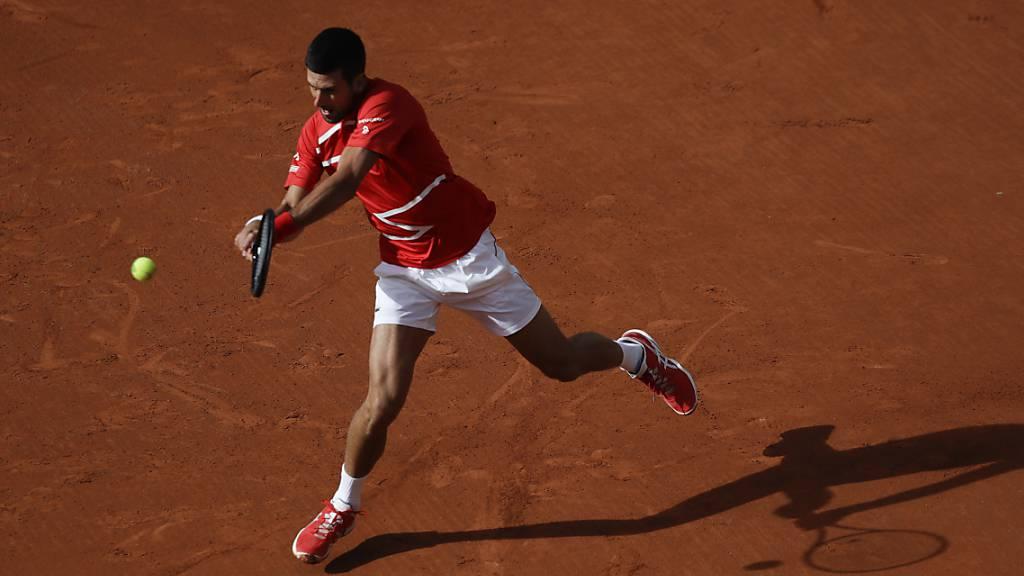 Novak Djokovic drückt gegen Ricardas Berankis aufs Tempo