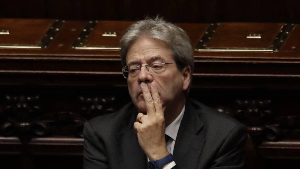 Italiens neuer Regierungschef Paolo Gentiloni, der sich noch im Senat einer Vertrauensabstimmung stellen muss.
