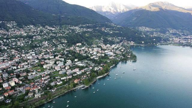 Luftaufnahme des Lago Maggiore (Archiv)
