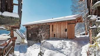 Bellwald VS Das Haus im höchstgelegenen Dorf des Goms ist nichts für Grossgewachsene, die Stube ist nur 1,88 Meter hoch.